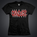 ASCETIC VADER LINE  - Black t-shirt/ Red logo/Women