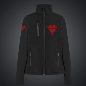 Women JACKET (softshell) VADER/ red embroidery