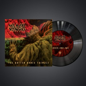 AUTOGRAF! THE ROTTEN BONES TREMBLE - singiel Black Vinyl 7''