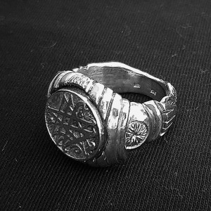 SILVER NECRONOMICON SIGNET / RING