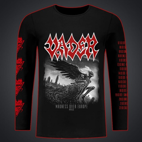 VADER OFFICIAL XXV Solitude in Madness ZIPPER HOODIE ALL SIZE Front Back Sleeve